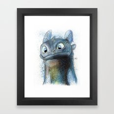 Toothless Framed Art Print