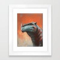 Rhino Rex Framed Art Print