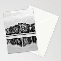 White Symphony of Winter Lake Stationery Cards