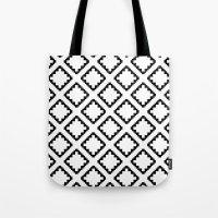 Geometric Squares Diamon… Tote Bag