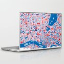 Hamburg City Map Poster Laptop & iPad Skin