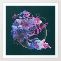 Art Prints featuring SQUAAD (everyday 01.30.16) by beeple