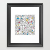 Step Brother Triangles Framed Art Print