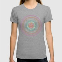 Retro Floral Circle 2 Womens Fitted Tee Tri-Grey SMALL