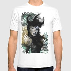 Angel White SMALL Mens Fitted Tee