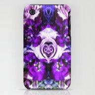 Purple Pink Flowers iPhone (3g, 3gs) Slim Case