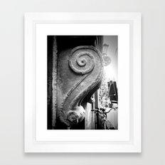 Italian Wall Scroll Framed Art Print