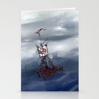 Ship in the fog Stationery Cards
