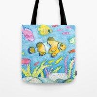Crayon Fish #3 Tote Bag