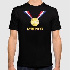Lympics Black Mens Fitted Tee SMALL