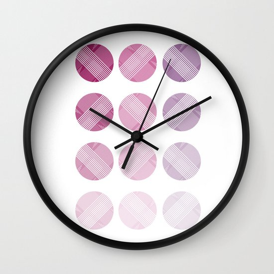 Line Round Wall Clock