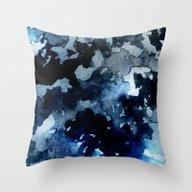 Shadows - Blue Dream Throw Pillow
