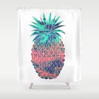 Maui Pineapple Shower Curtain