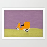 Enjoy The Ride Truck Art Print