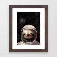 Space Sloth  Framed Art Print