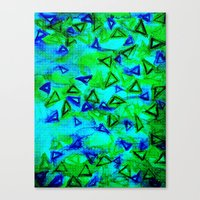 ANALOG zine - TECHNO VIBE Collaboration Piece, Bold Colorful Abstract Watercolor Painting Music Canvas Print