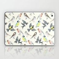 Illustrated Birds Laptop & iPad Skin