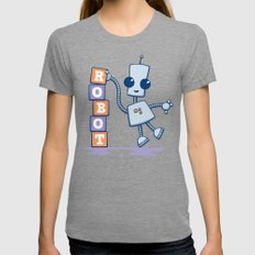 Ned's Blocks Womens Fitted Tee Tri-Grey SMALL