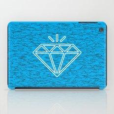 diamond cyan iPad Case