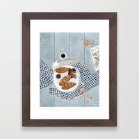 Croissants With Cherry Jam Framed Art Print