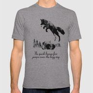 The Quick Brown Fox Jump… Mens Fitted Tee Athletic Grey SMALL