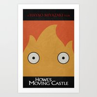 Howl's Moving Castle Pos… Art Print