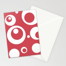 Circles Dots Bubbles :: Berry Blush Stationery Cards