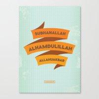 Subhanallah Alhamdulillah Allahuakbar Canvas Print