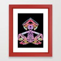 Grumpy Meditator Framed Art Print