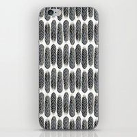 Black Stripe Feather Pattern iPhone & iPod Skin