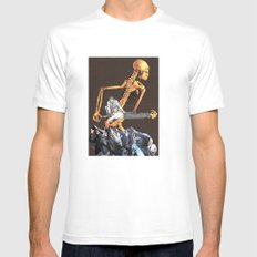 Todays Environment White Mens Fitted Tee SMALL