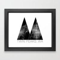 Twin Peaks, WA Framed Art Print