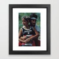 PR is LOVE Framed Art Print