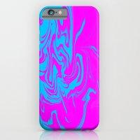 Blue and pink swirls  iPhone 6 Slim Case