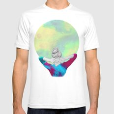 Cosmic Girl Mens Fitted Tee White SMALL