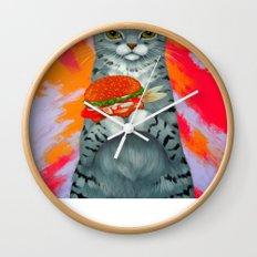 FISH BURGER Wall Clock