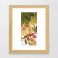 Morning Blossoms 2 - Olive Variation Framed Art Print
