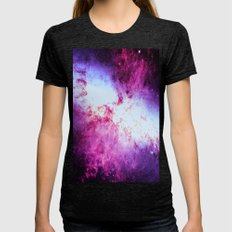 Galaxy Messier 82 Fuchsia Purple Womens Fitted Tee Tri-Black SMALL