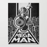 Megaman. In The Year 20x… Canvas Print