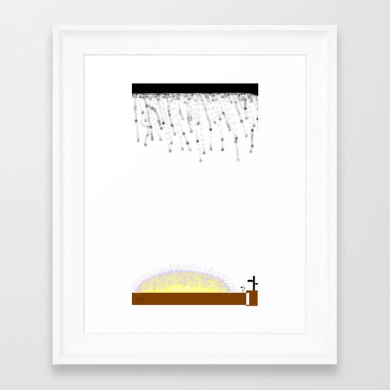 Sad Sunset Framed Art Print