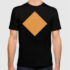 Bardarbunga Gold SMALL Mens Fitted Tee Black