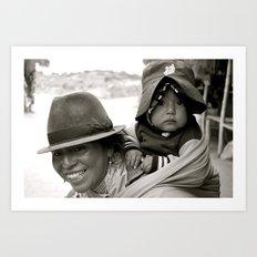 Ecuadorian Mother and Child Art Print