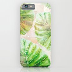 Pearlescent mosaic and plants Slim Case iPhone 6s