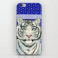 White Tiger In Blue Az02… iPhone & iPod Skin