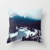 Canadian Rocky Mountains… Throw Pillow