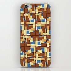 Blue Earth Patch Pattern iPhone & iPod Skin