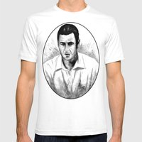 DARK COMEDIANS: Adam San… Mens Fitted Tee White SMALL