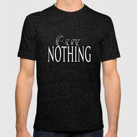 Rue Nothing White and Black Logo Mens Fitted Tee Tri-Black SMALL