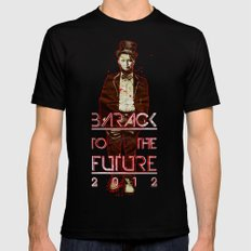 Barack To The Future Mens Fitted Tee SMALL Black