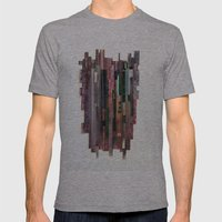 Conveyor Belt Mens Fitted Tee Athletic Grey SMALL